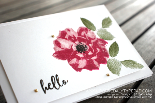 Stampin Up To a Wild Rose 2019 annual catalog stamp set. Card by Claire Daly Stampin' Up! Demonstrator Melbourne Australia