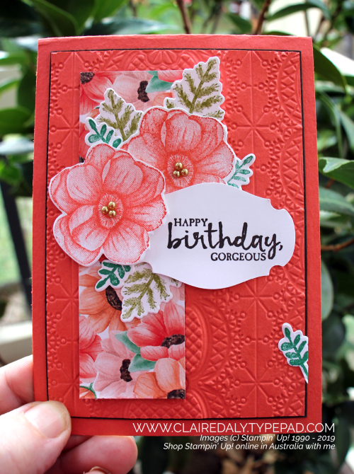 Stampin Up Painted Seasons 2019 Saleabration birthday card by Claire Daly, Stampin' Up! Demonstrator Melbourne Australia