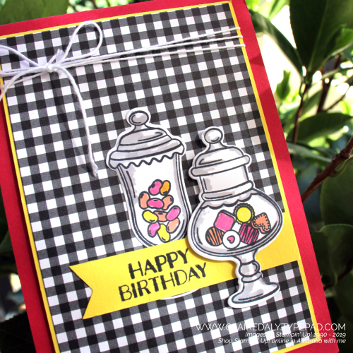 Stampin Up Sweetest Thing birthday card by Claire Daly, Stampin Up Demonstrator Melbourne Australia.
