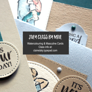Stampin' Up! A Good Man masculine watercolour Class By Mail. By Claire Daly, Stampin' Up! Demonstrator Melbourne Australia.