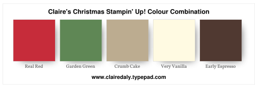 Stampin' Up! 2019 Christmas Colour Combination. Claire Daly Melbourne Australia.