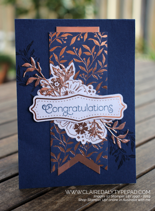 Stampin Up Everything Rosy card, May 2019.  By Claire Daly Stampin Up Demonstrator Melbourne Australia