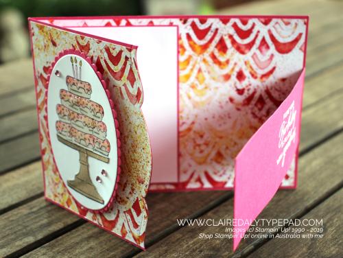 Stampin Up Fancy Fold Card 2020 using Birthday Goodness Stamp Set