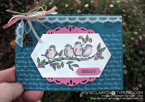 Free as a Bird and Pretty Peacock card from 2019 Stampin' Up! Annual Catalogue by Claire Daly Stampin' Up! Demonstrator Melbourne Australia