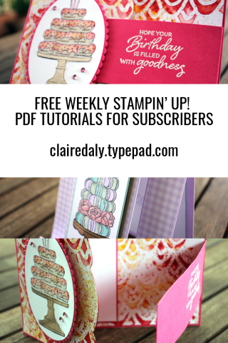 Subscribe to my Stampin' Up! Australia email list for a free weekly PDF tutorial.
