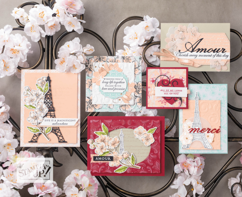 Stampin Up Parisian Blossoms Suite available at clairedaly.typepad.com