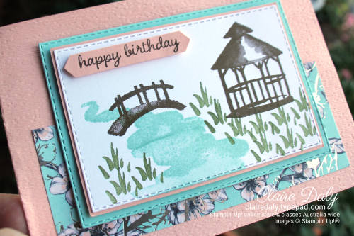 Stampin Up My Meadow 2020 January mini. Birthday card by Claire Daly, Melbourne Australia.