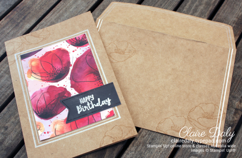 Stampin Up Painted Poppies Bundle. Gift with Purchase Jan 12-19th . Claire Daly Independent Stampin Up Demonstrator Melbourne Australia