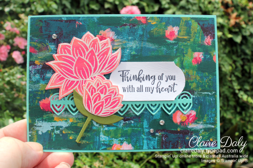 Stampin Up Lovely Lilypad Stamp Set 2020. Claire Daly, Stampin Up Demonstrator Melbourne Australia