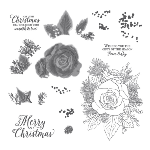 Stampin Up Christmas Rose stamp set.