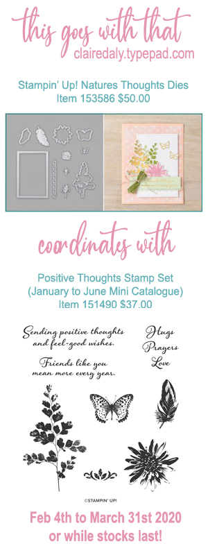 Stampin Up dies that coordinate with Positive Thoughts stamp set in the 2020 January to June Mini Catalogue