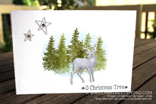 Stampin Up Most Wonderful Time 2019  Christmas card by Claire Daly, Stampin Up Demonstrator Melbourne Australia.