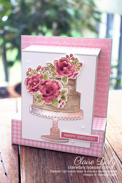 Stampin Up Pop up Happy Birthday to You Saleabration 2020 Card by Claire Daly, Stampin' Up! Demonstrator Melbourne Australia.