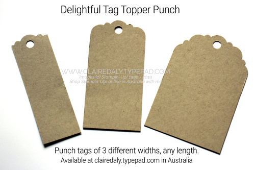 Delightful Tag Topper Punch, tag punch, tag topper punch, Stampin Up