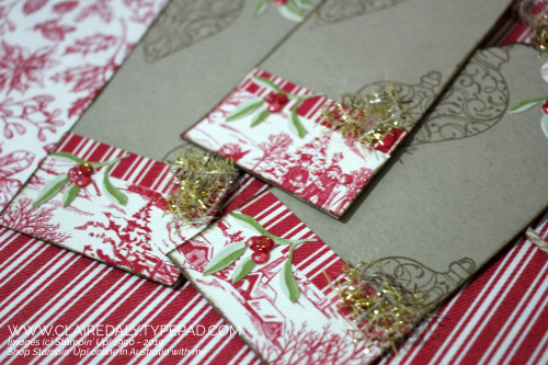 DIY tags, Tag Topper Punch, Tag Punch, Stampin Up, handmade tgs, Christmas 2020. By Claire Daly Stampin Up Demonstrator Melbourne Australia
