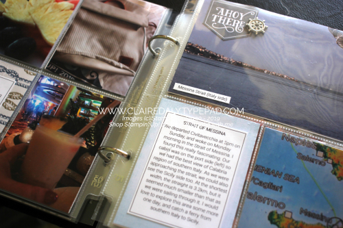 "Stampin Up Travel Scrapbooking Album. 6x8"" using Come Sail Away Memories and More Cards and pocket scrapbooking cards. By Claire Daly Stampin' Up! Demonstrator, Melbourne Australia"