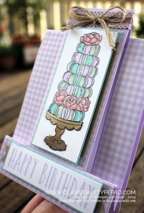Stampin Up Fancy Fold Card 2020 using Birthday Goodness Stamp Set