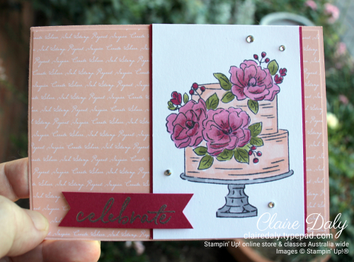 Stampin Up 2020 Saleabration Happy Birthday to  You. Card by Claire Daly Independent Demonstrator Melbourne Australia.