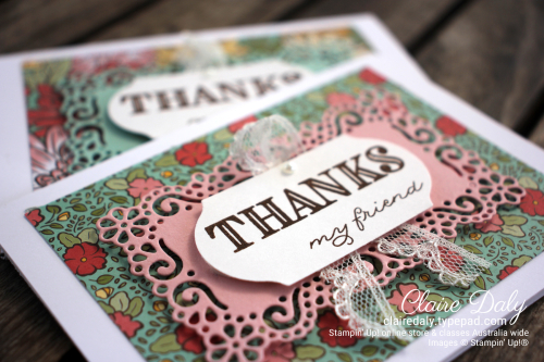 Ornate Garden 2020 bulk thankyou cards by Claire Daly, Stampin' Up! Demonstrator Melbourne Australia.