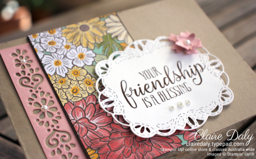 Ornate Garden 2020 friendship card by Claire Daly, Stampin' Up! Demonstrator Melbourne Australia