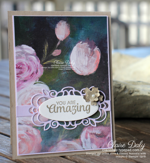 Stampin' Up!  Perennial Essence DSP 2020 cards by Claire Daly, Stampin Up Demonstrator Melbourne Australia for YCC106