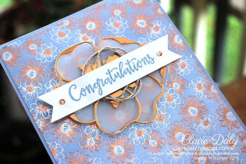 Saleabration Second Release 2020 Flowering Foils. Card by Claire Daly, Stampin' Up! Demonstrator Melbourne Australia