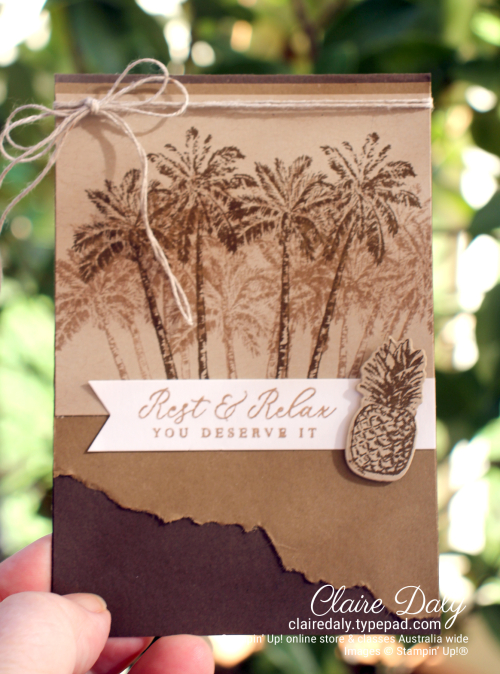 Stampin Up Timeless Tropical masculine 2020 by Claire Daly Stampin Up Demonstrator Melbourne Australia