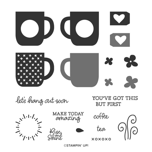 Stampin Up Rise and Shine stamp set by Stampin Up. Saleabration 2020.