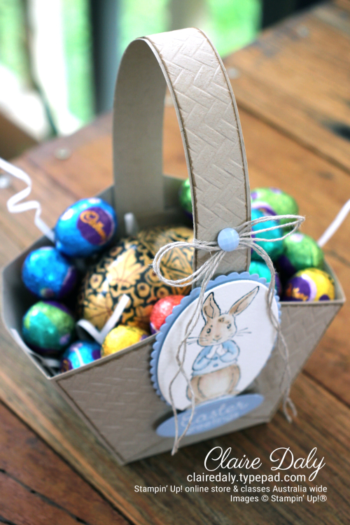 DIY Easter Basket Template by Claire Daly Stampin' Up! Demonstrator Melbourne Australia.