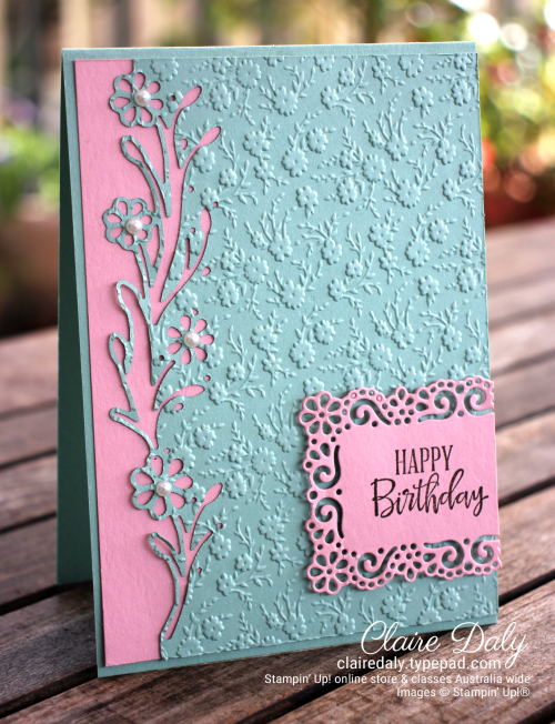 Stampin Up Ornate Garden Suite Card 2020 card ideas by Claire Daly Stampin Up Demonstrator Melbourne Australia