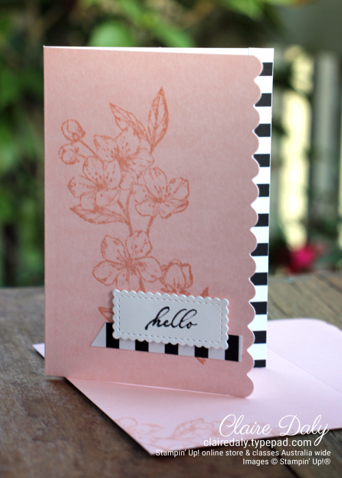 Stampin Up Forever Blossoms Scalloped Note Cards 2020. By Claire Daly Stampin Up Demonstrator Melbourne Australia