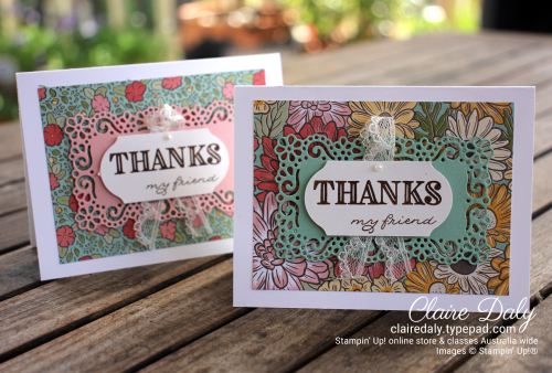 Ornate Garden 2020 bulk thankyou cards by Claire Daly, Stampin' Up! Demonstrators Melbourne Australia
