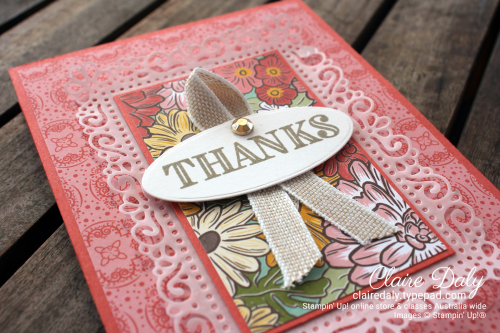 Stampin Up 2020 Ornate Garden Easel Card - Claire Daly