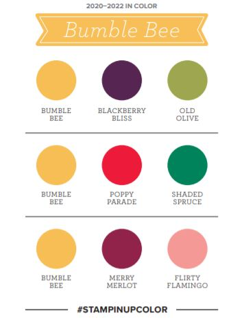 Stampin Up Bumblebee colour / color combinations/ 2020 In Colour