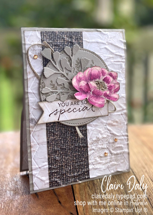Stampin' Up! New In Good Taste Suite | 2020 Annual Catalogue | Claire Daly Stampin' Up! Demonstrator Melbourne Australia | |Tasteful Textures Bundle