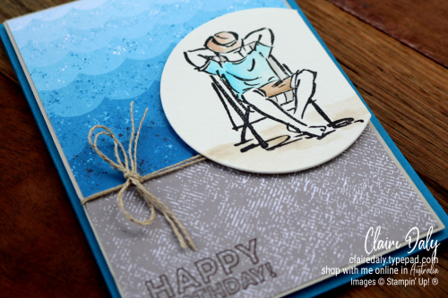 Stampin Up A Good Man and Many Mates stamp set. 2020 card by Claire Daly, Stampin' Up! Demonstrator Melbourne Australia.