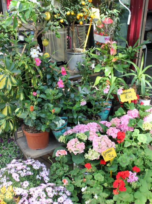 A flower stalls