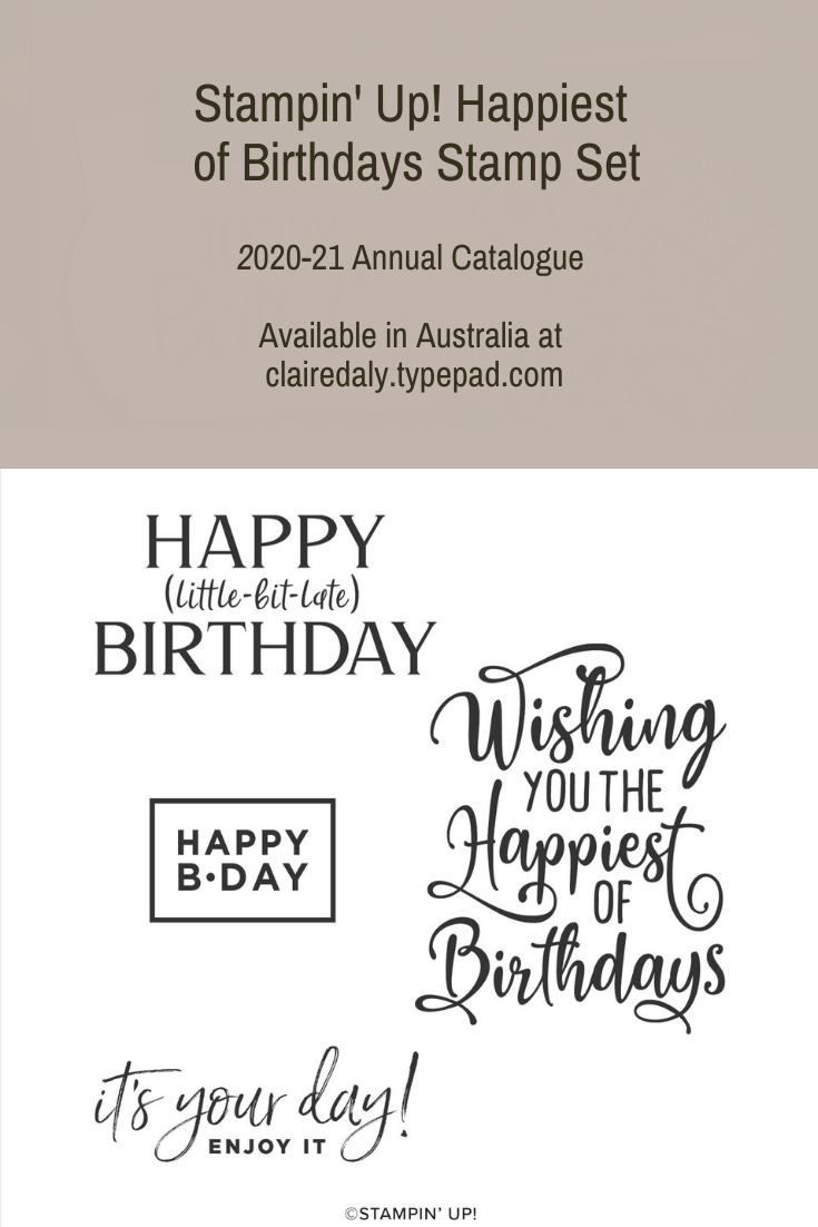 Stampin' Up! Happiest of Birthdays (3)
