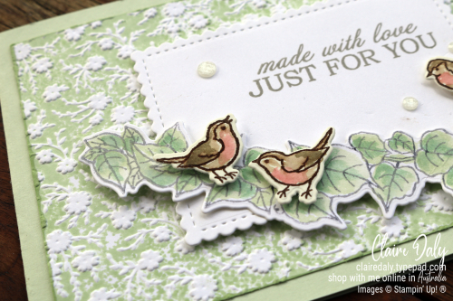 Stampin' Up! Quite Curvy Bundle with Ornate Floral Embossing Folder and the Inked Embossing Folder Technique. 2020 Card by Claire Daly Stampin Up Demonstrator Melbourne Australia.