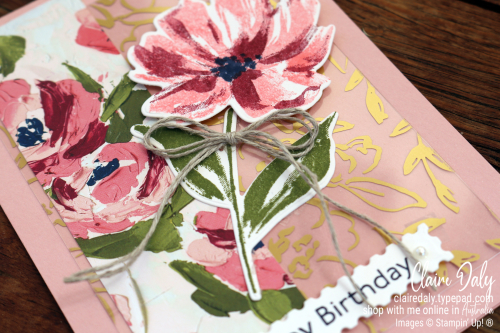Stampin Up Fine Art Floral product suite sneak peek from the 2021 January to June mini catalogue. Card by Claire Daly, Stampin' Up! Demonstrator Melbourne Australia.
