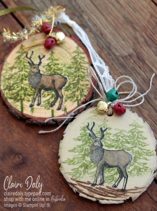 Wood slice ornament 2