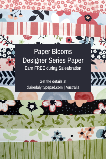 Paper Blooms Designer Series Paper Earn FREE during Saleabration