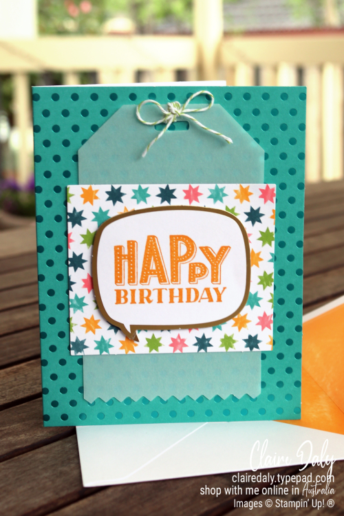 Birthday card idea using You are Amazing Project Kit