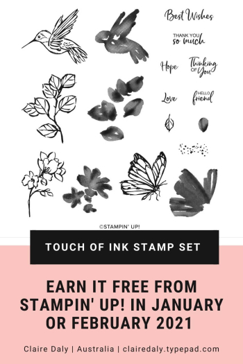 Stampin Up 2021 Touch of Ink Stamp Set