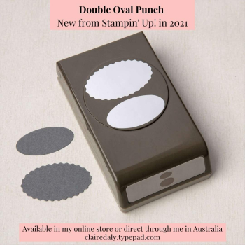 Stampin Up 2021 Double Oval Punch