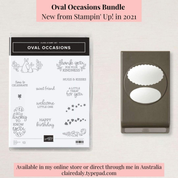 Stampin Up 2021 Oval Occasions Bundle