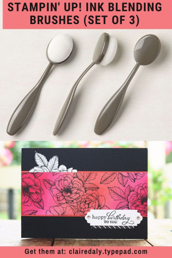 Stampin Up Ink Blending Brushes