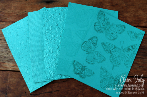 5 quick and easu backgrounds for Stampin Up handmade cards.