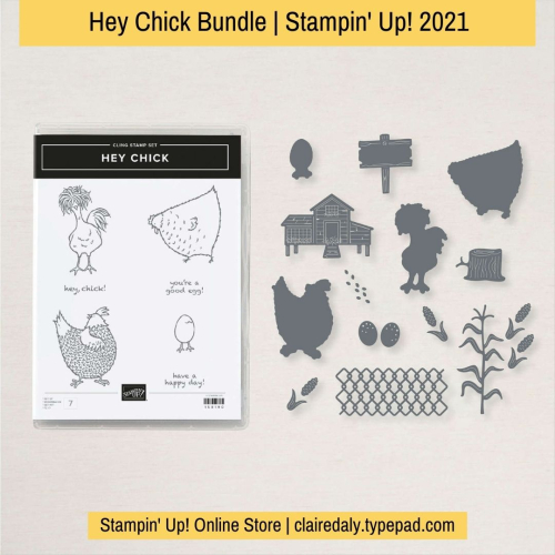 Stampin Up Hey Chick bundle available from Claire Daly, Stampin' Up! Demonstrator Melbourne Australia