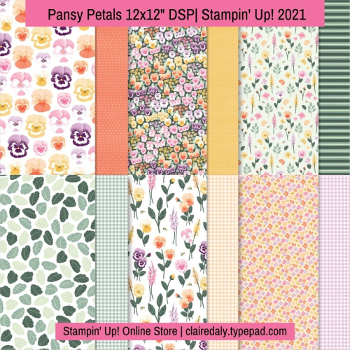 Stampin Up Pansy Petals DSP available from Claire Daly, Stampin Up Demonstrator Melbourne Australia